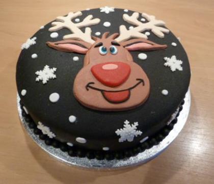 Rudolf in de sneeuw
