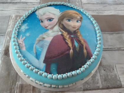 Elsa en Anna (foto)taart