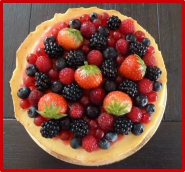 Citroen cheesecake met zomers roodfruit