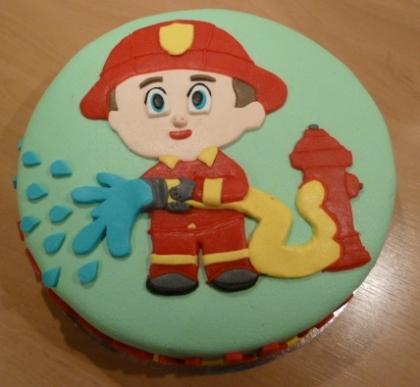Brandweerman-taart voor Jeroen