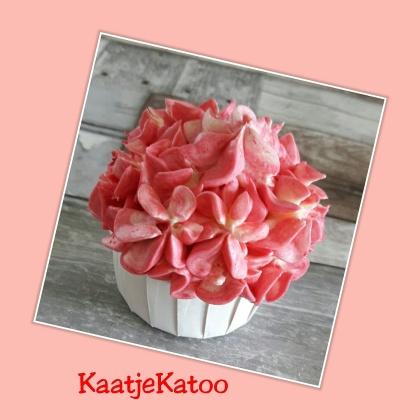 Hortensia cupcake
