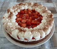Aardbeien- tiramisutaart