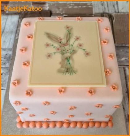 Valentijn taart met chocolade print